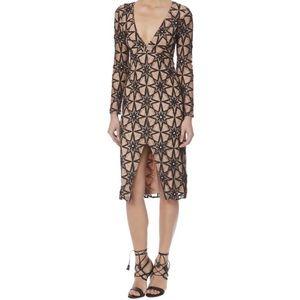 FL&L Black Metz Midi Dress
